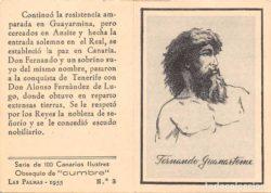 ¿Descender del Faycan de Telde o de Fernando Guanarteme?